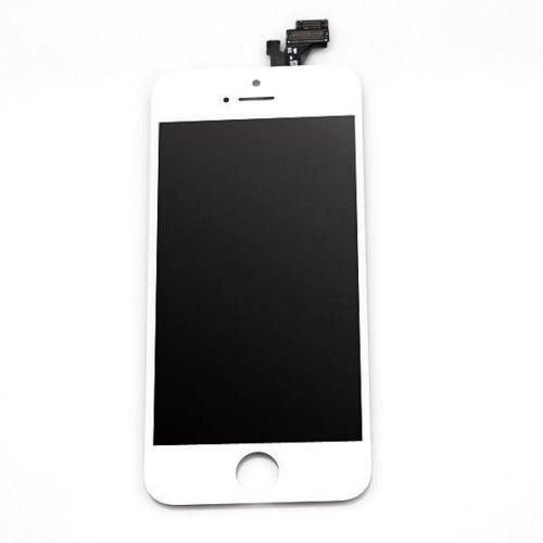 cran lcd et vitre tactile pour iphone 5s blanc pas cher. Black Bedroom Furniture Sets. Home Design Ideas