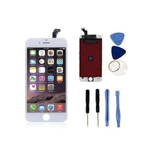 cran lcd vitre tactile blanc pour iphone 6 plus outils pas cher. Black Bedroom Furniture Sets. Home Design Ideas