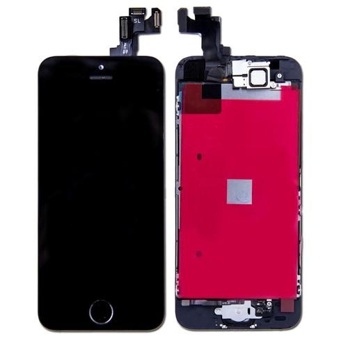 ecran lcd vitre tactile complete remplacement pour iphone 5 se noir. Black Bedroom Furniture Sets. Home Design Ideas