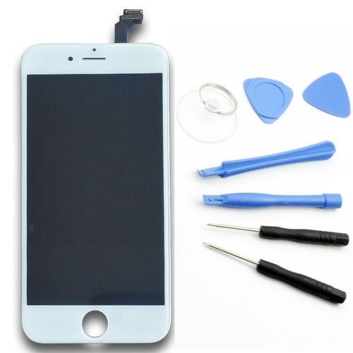 cran lcd vitre tactile iphone 6 4 7 blanc outils pas cher. Black Bedroom Furniture Sets. Home Design Ideas