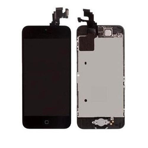 iphone 5c ecran noir complet compatible vitre et lcd pr mont s sur ch ssis. Black Bedroom Furniture Sets. Home Design Ideas