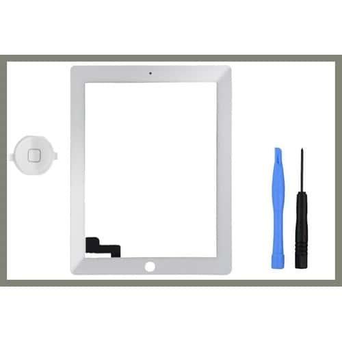 ecran vitre tactile pour apple ipad 2 blanc outils pas cher. Black Bedroom Furniture Sets. Home Design Ideas