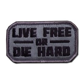 �cusson Ou Patch Live Free Or Die Hard Acu Dark Msm Msm-P-074-Acud / Kza-E-L-686 Mil Spec Monkey Airsoft