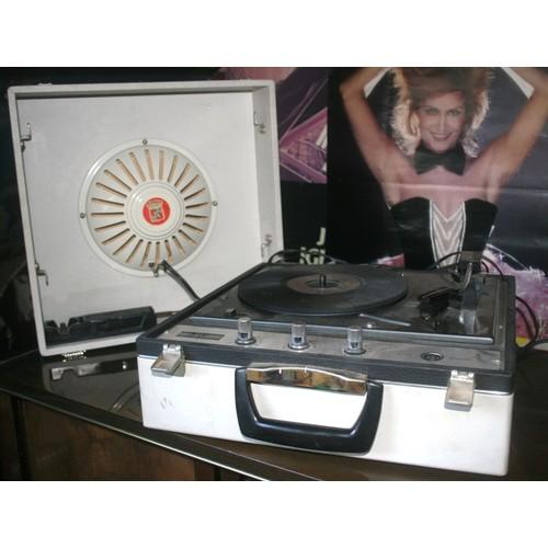 electrophone valise vintage ribet desjardins pour vinyle. Black Bedroom Furniture Sets. Home Design Ideas