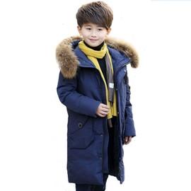 eleyooner doudoune capuche fourrure enfant garcon manteau longue hiver chaud epaisse parka. Black Bedroom Furniture Sets. Home Design Ideas