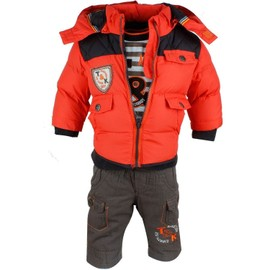 ensemble bebe vetements hiver pantalon sweat manteau rouge. Black Bedroom Furniture Sets. Home Design Ideas