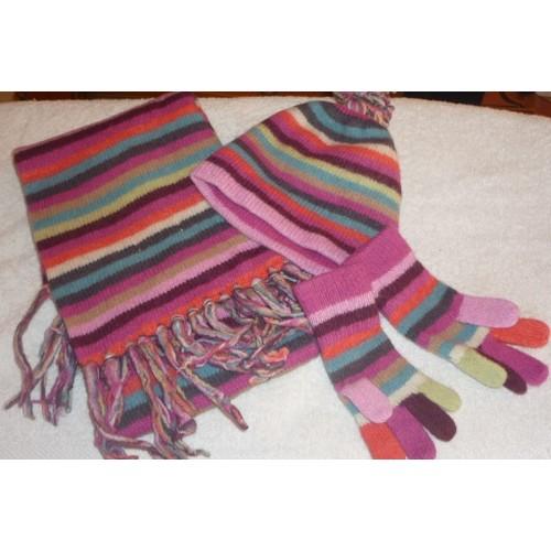 ensemble bonnet charpe gants okaidi 2 3 ans achat et vente. Black Bedroom Furniture Sets. Home Design Ideas