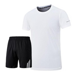 Ensemble De Sport T-Shirt Et Short Homme Tee Shirt Manches Courtes Vêtement  Séchage Rapide fd65648c1c5
