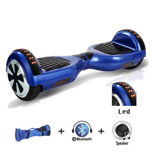 ensemble gyropode overboard hoverboard smart board bleu 6 5 pouces sac de transport. Black Bedroom Furniture Sets. Home Design Ideas