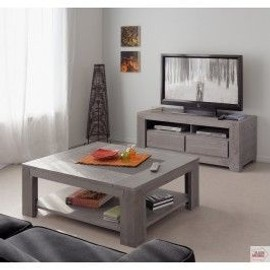 Table basse et meuble tv assortis table de lit - Ensemble salon sejour ...