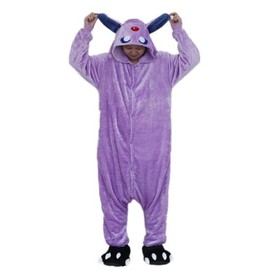 ensemble pyjama kigurumi onesie violet peluche douce chaude confortable pokemon mentali animal. Black Bedroom Furniture Sets. Home Design Ideas