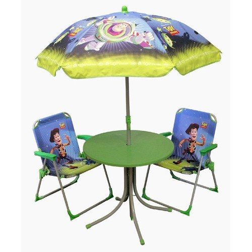 ensemble salon de jardin enfants disney toy story table parasol 2 chaises. Black Bedroom Furniture Sets. Home Design Ideas
