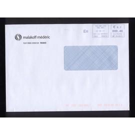 Enveloppe � Fen�tre Envelope Malakoff M�d�ric Paris Ema Empreinte Machine � Affranchir 0,46 Euro 22/06/2011 France