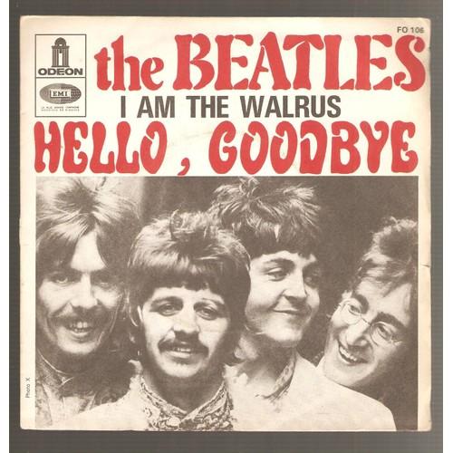 I Am The Walrus Hello Goodbye Beatles 45 Tours