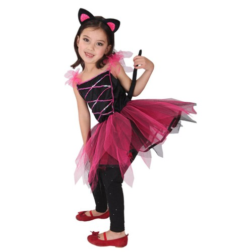 eozy d guisement chat enfant fille halloween spectacle 7 9ans. Black Bedroom Furniture Sets. Home Design Ideas