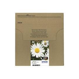 epson 18 easy mail packaging pack de 4 noir jaune cyan magenta originale bo te. Black Bedroom Furniture Sets. Home Design Ideas