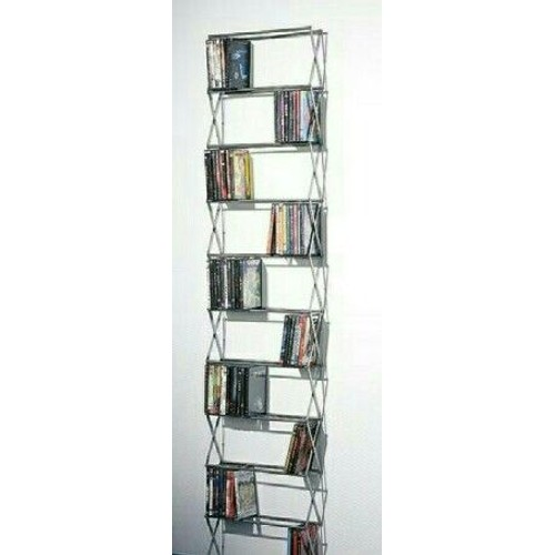 etagere murale extensible et adaptable pour ranger 290 dvds musique video ou jeux pc. Black Bedroom Furniture Sets. Home Design Ideas
