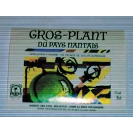 Etiquette Ancienne Gros Plant Du Pays Nantais Tableau Moderne