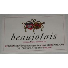 Etiquette Ancienne Vin Wine Label Beaujolais Uivb Union Des Vins Du Beaujolais Blasons