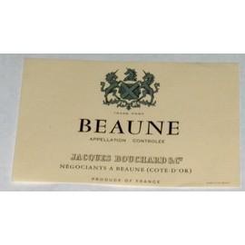 Etiquette Tr�s Ancienne Vin Wine Label Beaune De Jacques Bouchard Blason Cheval Licorne