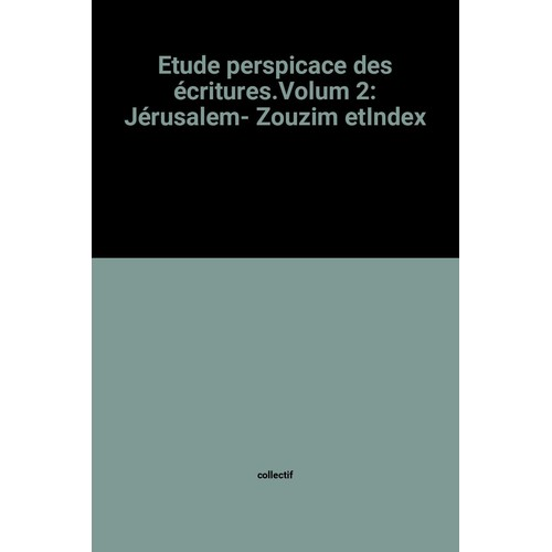 etude perspicace