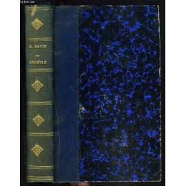 Etudes Sur Les Tragiques Grecs. Eschyle. de M. PATIN