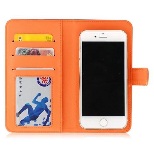 coque iphone 8 cuir orange
