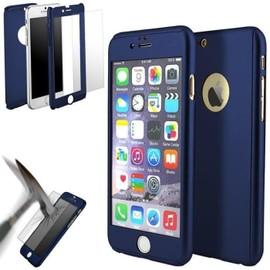 coque iphone 5 360 degres bleue