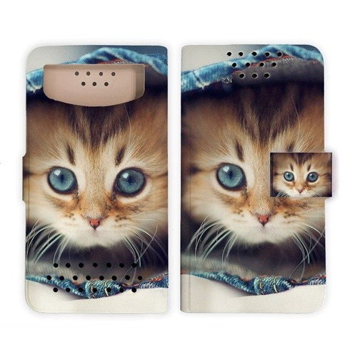 Etui coques housse portefeuille universel taille m pour for Coque portefeuille wiko lenny 2