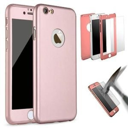 ooakcess iphone 6 6s rose gold etui housse coque 360 full protection anti choc pour. Black Bedroom Furniture Sets. Home Design Ideas