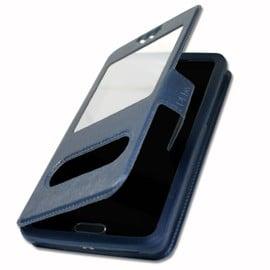 Etui Housse Coque Folio Bleu Pour Alcatel One Touch Idol Alpha By Ph26