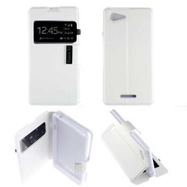 Etui Housse Coque Folio Fen�tre Sony Xperia E3 - Blanc