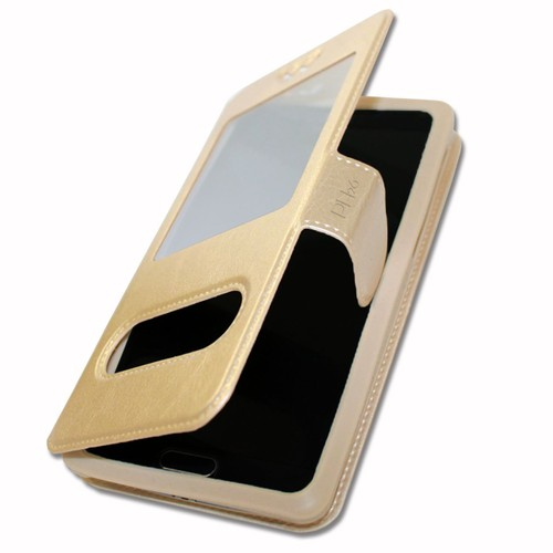 Etui housse coque folio or gold pour huawei y5 by ph26 pas for Housse huawei y5