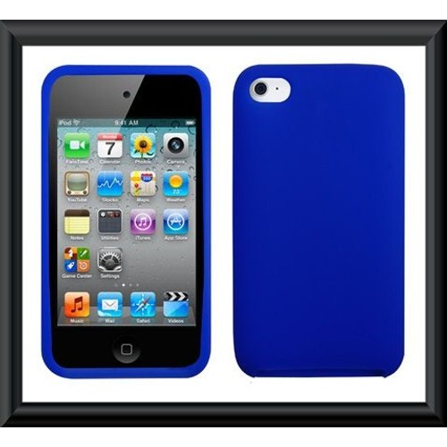 Etui housse coque ipod touch 4 bleu silicone ref tt658 for Housse ipod touch