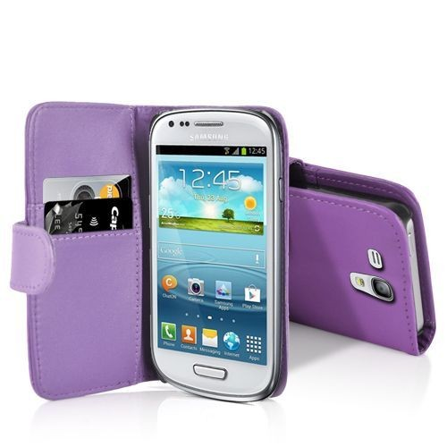 Etui housse coque violet poprtefeuille pour samsung galaxy for Housse samsung galaxy s3