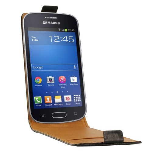 Etui portefeuille rabat cuir noir samsung s7390 galaxy - Samsung galaxy trend lite noir s7390 ...