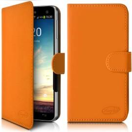 Etui Portefeuille Universel S Couleur Orange pour Samsung Galaxy A5 2017