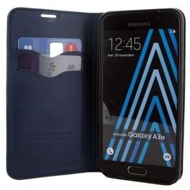 Etui Rabattable Luxe Bleu Nuit Avec Support Et Emplacement Carte De Visite Pour Samsung Galaxy A3