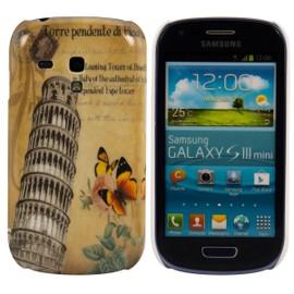 Étui rigide Motif urbain (Pisa) pour Samsung Galaxy S3 Mini i8190 en Jaune - par kwmobile