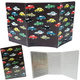 etui souple 3 volets papiers de voiture auto retro noir rangement prot ge protection. Black Bedroom Furniture Sets. Home Design Ideas