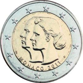 euro pi ce 2 euros comm morative 2011 monaco mariage du prince albert i i et de charl ne. Black Bedroom Furniture Sets. Home Design Ideas