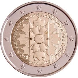 euro pi ce 2 euros comm morative 2018 france 100 me anniversaire de l 39 armistice de la. Black Bedroom Furniture Sets. Home Design Ideas