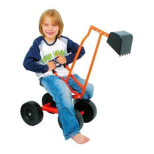 excavatrice en m tal pelleteuse manuelle pour enfant avec roues id al au bac sable. Black Bedroom Furniture Sets. Home Design Ideas