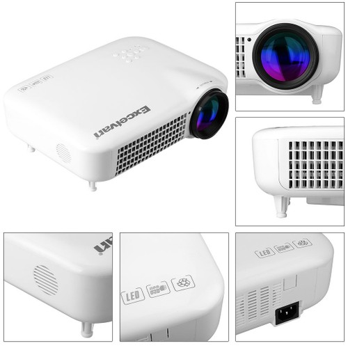 260 Multimedia 3000 Lumens Hd Led Projector Home Theater: Excelvan HD Multimedia LED 3000 Lumens Projector AV/VGA
