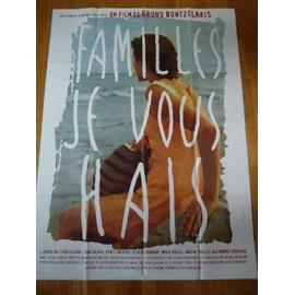 Familles Je Vous Hais De Bruno Bontzolakis - Affiche De Cin�ma 120 X 160 Cm