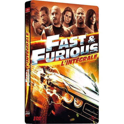 fast and furious l 39 int grale 5 films pack collector bo tier steelbook de rob cohen achat. Black Bedroom Furniture Sets. Home Design Ideas