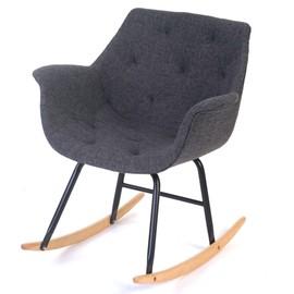 fauteuil bascule malm t820 rocking chair fauteuil de relaxation tissu gris. Black Bedroom Furniture Sets. Home Design Ideas