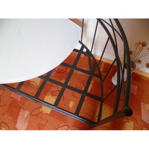 fauteuil banquette de jardin fer forg forme demi lune casa. Black Bedroom Furniture Sets. Home Design Ideas
