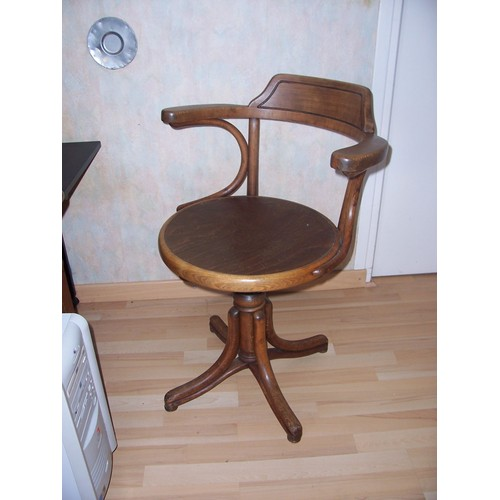 fauteuil de bureau ancien bois r glable en hauteur achat. Black Bedroom Furniture Sets. Home Design Ideas