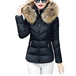femme fille manteau parka automne hiver jacket court veste capuche fourrure courte fausse. Black Bedroom Furniture Sets. Home Design Ideas